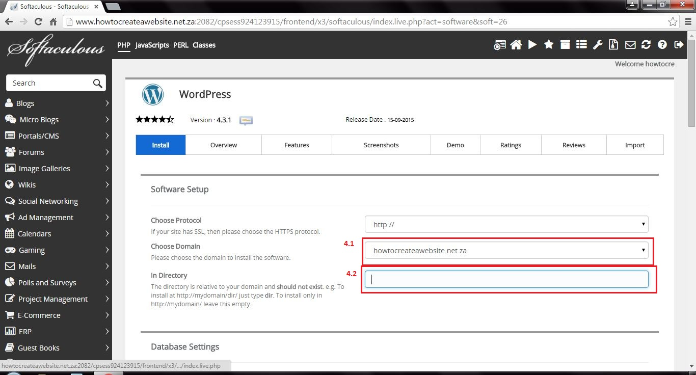 How to setup WordPress in cPanel - How to create a website